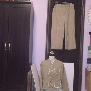 Harve Benard striped pants suit. Size 8